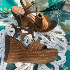 Ugg Wedge Sandals Shoes Women's 6